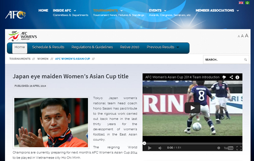 AFC女子アジアカップ@ホーチミ...